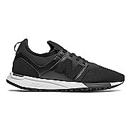 Womens New Balance 247 Casual Shoe - Black/White 6.5
