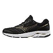 Mens Mizuno Wave Rider 22 Running Shoe - Black/Gold 10.5