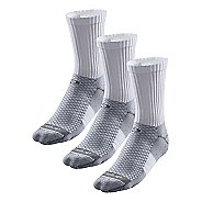 R-Gear Super Breathable Thick Cushion Crew 3 pack Socks - White L