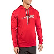 Mens Altra Core Hoody Half-Zips & Hoodies Technical Tops - Red L
