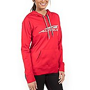 Womens Altra Core Hoody Half-Zips & Hoodies Jackets - Red L
