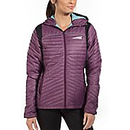 Womens Altra Micropuff Stretch Cold Weather Jackets - Plum XS