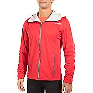 Mens Altra Wasatch Rain Jackets - Red M