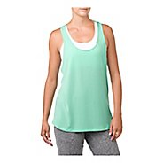 Womens ASICS Sleeveless & Tank Technical Tops - Opal Green Heather M