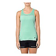 Womens ASICS Lite-Show Sleeveless & Tank Technical Tops - Opal Green L