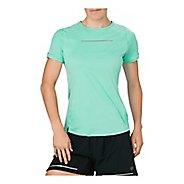 Womens ASICS Lite-Show Short Sleeve Technical Tops - Opal Green M