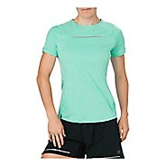 Womens ASICS Lite-Show Short Sleeve Technical Tops - Opal Green XL