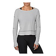 Womens ASICS Lite-Show Cover Up Running Jackets Technical Tops - Mid Grey Heather M
