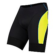 Mens Pearl Izumi Elite Pursuit Tri Compression & Fitted Shorts - Black/Yellow L