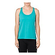 Womens ASICS Loose Sleeveless & Tank Non-Technical Tops - Lake Blue Heather L