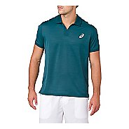 Mens ASICS Classic Polo Short Sleeve Non-Technical Tops - Blue Steel M