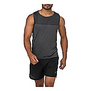 Mens ASICS Cool  Singlet Sleeveless & Tank Tops Non-Technical Tops - Dark Grey XL
