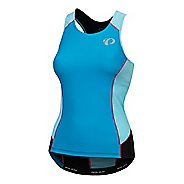 Womens Pearl Izumi Elite Pursuit Tri Sleeveless & Tank Tops Technical Tops - Atomic Blue/Aqua XL