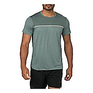 Mens ASICS Gel-Cool Short Sleeve Technical Tops - Stormy Sea S