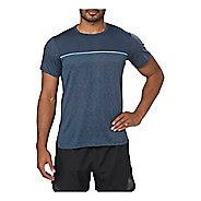 Mens ASICS Gel-Cool Short Sleeve Technical Tops - Dark Blue L