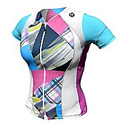 Womens De Soto Skin Cooler Tri Short Sleeve Technical Tops - Multi-Color Print L