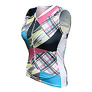 Womens De Soto Skin Cooler Tri Top - Sleeveless & Tank Technical Tops - Multi-Color Print XS