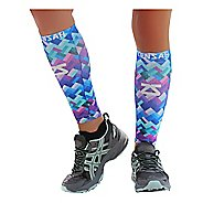 Zensah Geo Print Compression Leg Sleeves Injury Recovery