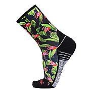 Zensah Tropical Mini Crew Socks - Flamingo S