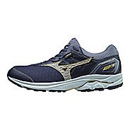 Mens Mizuno Wave Rider 21 GTX Running Shoe - Dress Blue/Silver 9.5