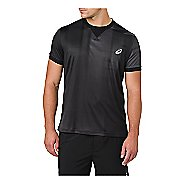 Mens ASICS GPX Short Sleeve Technical Tops - Ghost Shadow Black XXL