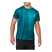 Mens ASICS GPX Short Sleeve Technical Tops - Ghost Shadow Blue XL
