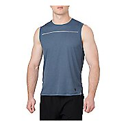 Mens ASICS Lite-Show Sleeveless & Tank Technical Tops - Dark Blue L