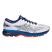 Mens ASICS GEL-Kayano 25 Running Shoe - White/Blue 13
