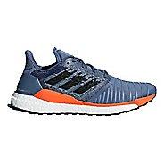 Mens adidas Solar Boost Running Shoe - Grey/Hi-Res Orange 13