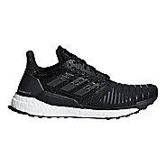 Womens adidas Solar Boost Running Shoe - Black/Grey 7.5