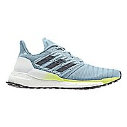 Womens adidas Solar Boost Running Shoe - Grey/Yellow 8