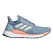 Womens adidas Solar Boost Running Shoe - Grey/Chalk Coral 6.5
