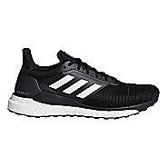Mens adidas Solar Glide Running Shoe - Black/White 10.5