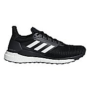 Mens adidas Solar Glide Running Shoe - Black/White 12.5