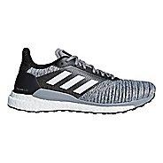 Mens adidas Solar Glide Running Shoe - Grey/Black 14