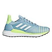 Womens adidas Solar Glide Running Shoe - Blue/Yellow 9