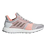 Womens adidas Ultra Boost ST Running Shoe - Grey/Clear Orange 10