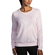 Womens Brooks Array Long Sleeve Technical Tops - Blush Eclipse M