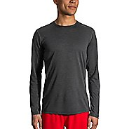 Mens Brooks Ghost Long Sleeve Technical Tops - Heather Black L