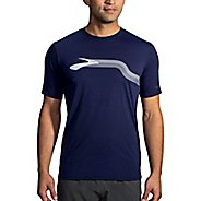 Mens Brooks Distance Graphic Tee Short Sleeve Technical Tops