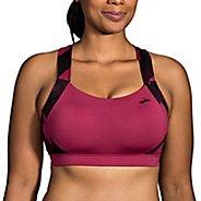Womens Brooks Uphold Crossback Sports Bra - Plum XL