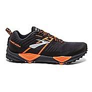 Mens Brooks Cascadia 13 Trail Running Shoe - Black/Orange 11