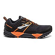 Mens Brooks Cascadia 13 Trail Running Shoe - Black/Orange 14