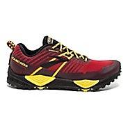 Mens Brooks Cascadia 13 Trail Running Shoe - Red/Yellow/Black 7
