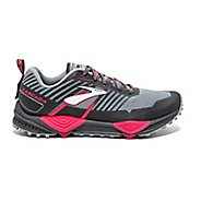 Womens Brooks Cascadia 13 Trail Running Shoe - Grey/Grey/Pink 8.5