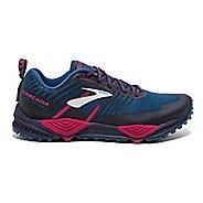 Womens Brooks Cascadia 13 Trail Running Shoe - Navy/Pink 11.5