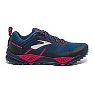 Womens Brooks Cascadia 13 Trail Running Shoe - Navy/Pink 7