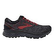 Mens Brooks Ghost 11 Running Shoe - Black/Red 7.5