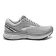 Womens Brooks Ghost 11 Running Shoe - Grey/Silver/White 6.5