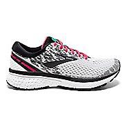 Womens Brooks Ghost 11 Running Shoe - White/Pink 9.5